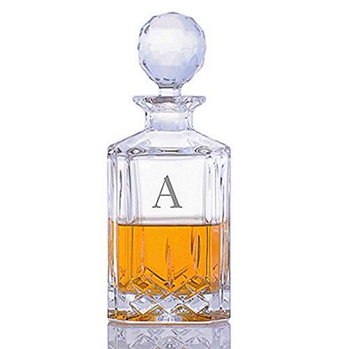 Custom Cut Crystal Whiskey Liquor Decanter by Crystalize Custom 1 Piece