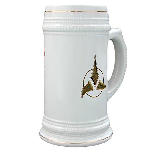 CafePress - Klingon Blood Wine Stein - Beer Stein 22 oz Ceramic Beer Mug with Gold Trim