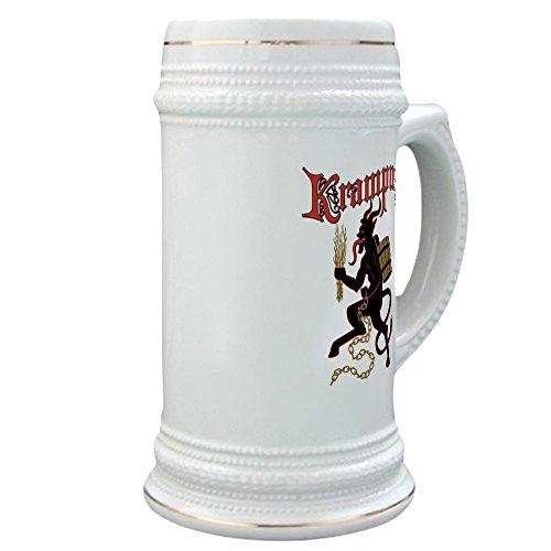 CafePress - Krampus Stein - Beer Stein 22 oz Ceramic Beer Mug with Gold Trim
