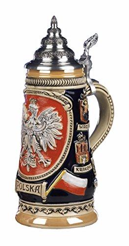 German Beer Stein Polska 05 liter tankard beer mug KI 307-P 05L Polska