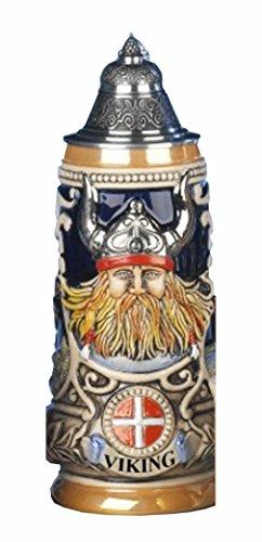 German Beer Stein Viking stein Leif the red Erikssen 05 liter tankard beer mug KI 303-V 05L