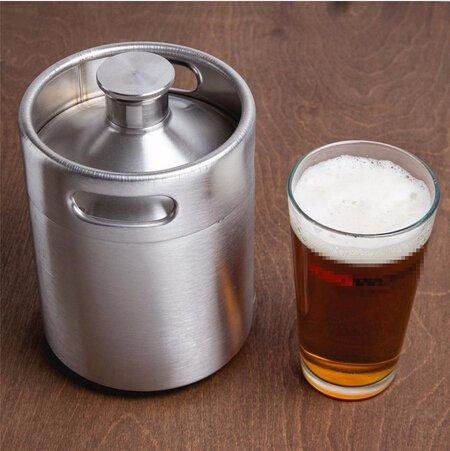 Brand New 2L64oz Home Fashion Stainless Steel Beer Bottle Barrels Beer Keg Beer Growler Homebrew Wine Pot Barware For Party