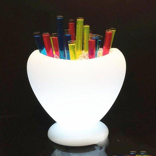 HUANZI Creative Charge Glow Bar Ice Bucket Ktv Plastic Red Wine Champagne Barrels Barrels Of Beer  white