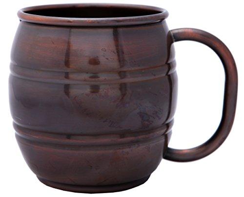 Melange 100 Authentic Copper Barrel Beer Mug Antique Finish Size-14 Oz