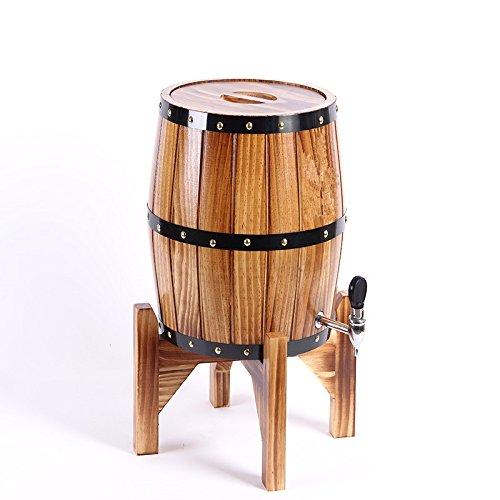 Wooden Beers Barrels with Stainless Steel Wine Barrels for Storage WineBeerWhiskey 3L Brown