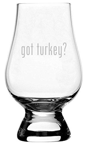 got turkey Etched Glencairn Crystal Whisky 59oz Snifter Tasting Glass