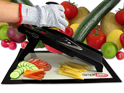 Simplifine Mandoline Slicer And Chopper With Free Cut Resistant Gloves. Best For Making Quick And Healthy Salads