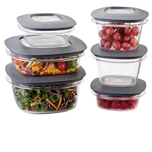 Rubbermaid Premier Easy Find Lids 12-Piece Food Storage Container Set Grey