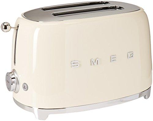 Smeg TSF01CRUS 50s Retro Style Aesthetic 2 Slice Toaster Cream