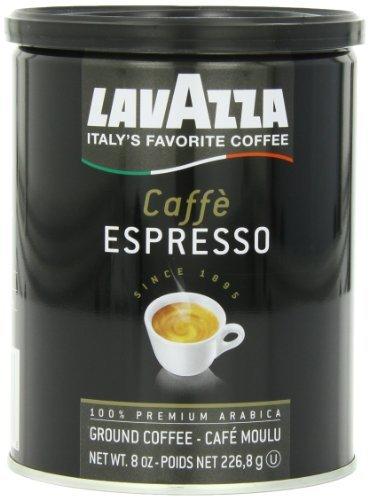 Lavazza Caffe Espresso Ground Coffee Medium Roast 8 oz Cans Full Case of 12