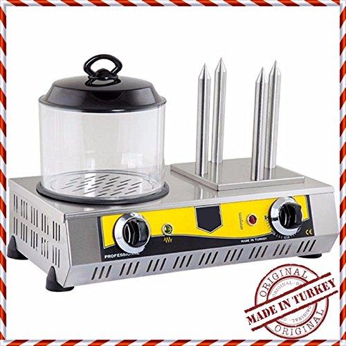 30 HOTDOG CAPACITY  4 BUN European-Style Hot Dog Grill hotdog steamer cooker and bun warmer Machine for Commercial industrial Kitchen