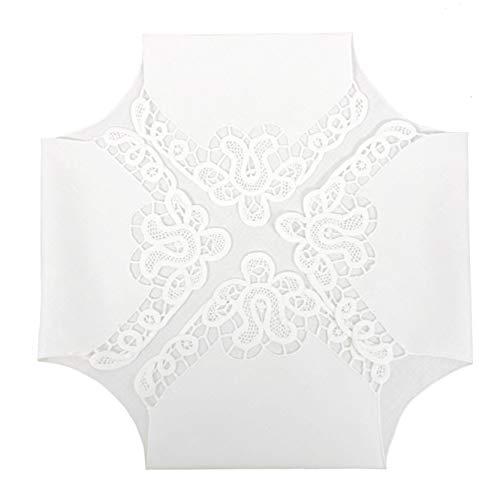 Bread Basket Liners Bun Warmers White Point de Venice Lace Pattern Design Linen 18 x 18 inch Set of 2