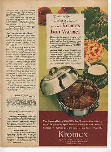 Kromex Bun Warmer Deliciously Hot Delightfully Served 1946 Vintage Antique Advertisement