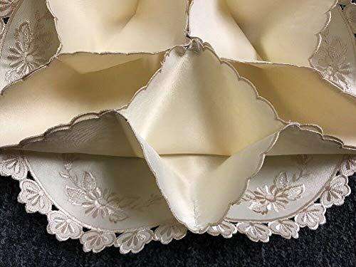 tkel Bun Warmer Candy Roll Holder Beige Embroidered Flower Style Gift Home Decor