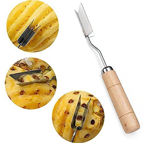 V Shape Pineapple Slicer Stainless Steel Pineapple Eye Peeler Pineapple Seed Remover Knife Fruit Tool by HengKaiSing