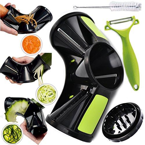 Joiedomi Vegetable Tri-Blade Spiralizer Bundle Spiral Slicer Vegetable Pasta Maker