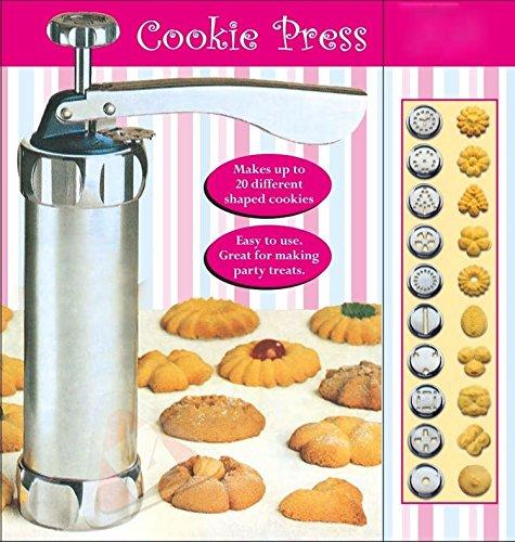 New 25Pc Cookie Press Pump Machine Biscuit Maker Cake Cutter Decorating Set