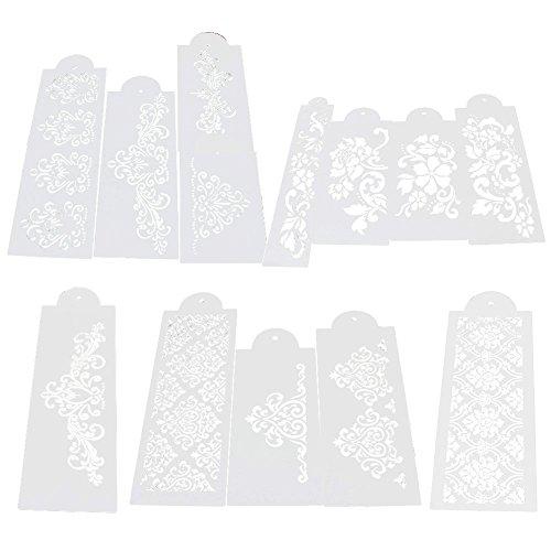 MOMU Lace Flower Cake Fondant Cookie Side Baking Stencil Wedding Decorating DIY Tools