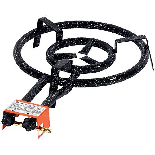 Garcima Paella Dual Ring ButanePropane Gas Burner Black 40 cm