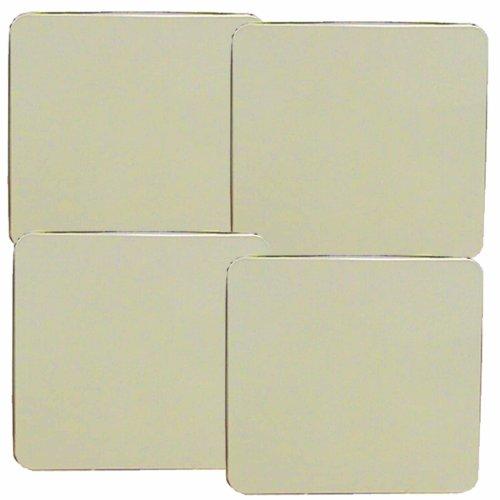Reston Lloyd Square Gas Stove Burner Covers Set of 4 Almond