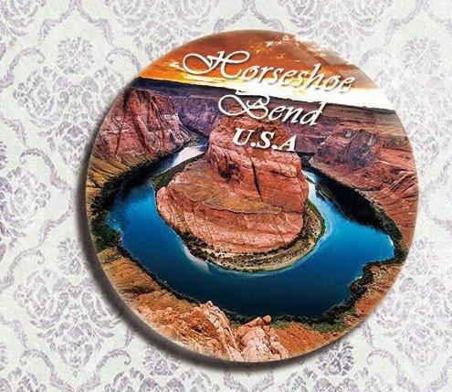 The US travel souvenir gifts Refrigerator bottle opener Crystal film horseshoe bay