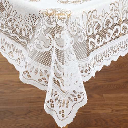 White Lace Reusable Tablecloth Rectangle Size 60 X 104