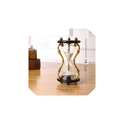 1530 Minute Metal Sand Hourglass Clock Timer Sandglass Home DecorationBlack30Min