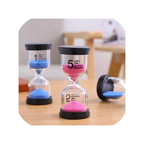 5101530 Minutes Hourglass Sand Timer Color Glass Sandglass Sand Clock Children Kids Gift Home Decoration 24Blue5Min