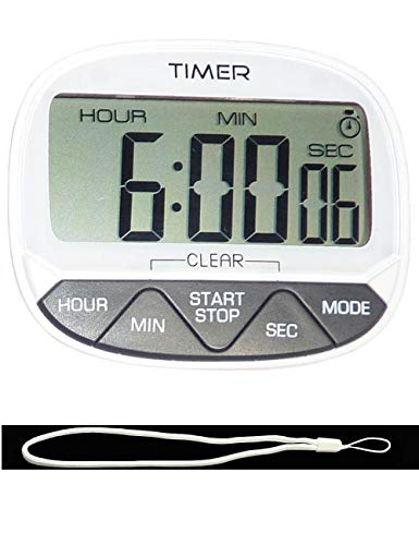 CJHFAMILY 24-Hour Digital Electronic Kitchen Home Cook Classroom Countdown and Count Up TimerClock with Magnet