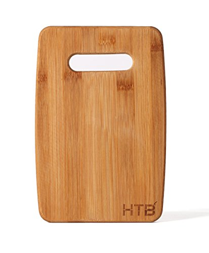 HTB 100 Bamboo Cutting Board with Handle For Slicing VeggiesChopping Meat or Making Cocktails 04S