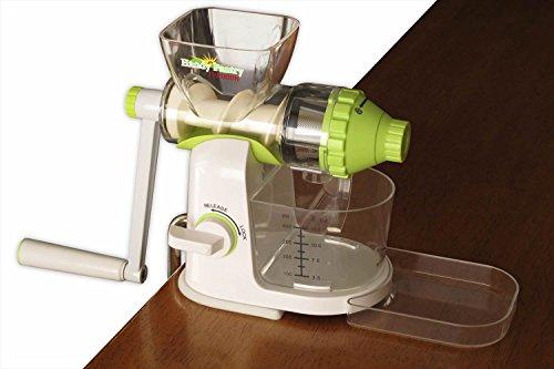 Typhoon Manual Wheatgrass Juicer - Hand Crank Wheat Grass Fruit Vegetable Juice Extractor