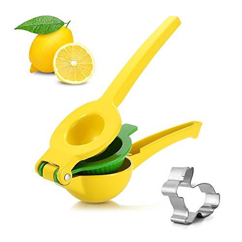 Yellow Lemon Squeezer Citrus Juicer Double Bowled Famirosa Manual Juicer Press Manual Juice Extractor Enameled Aluminum Cookie Mold