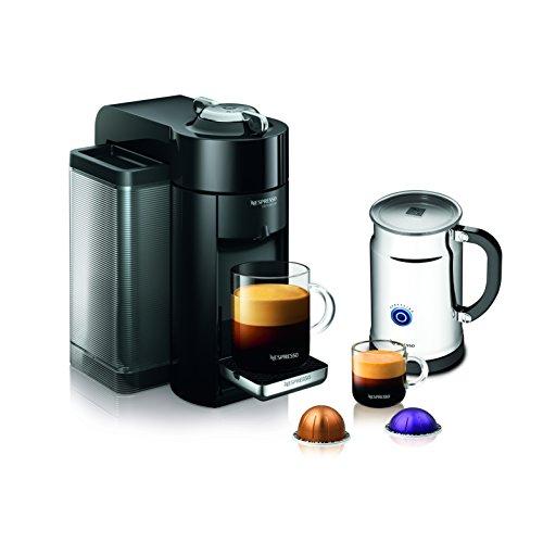 Nespresso A+gcc1-us-bk-ne Vertuoline Evoluo Deluxe Coffee & Espresso Maker With Aeroccino Plus Milk Frother, Black