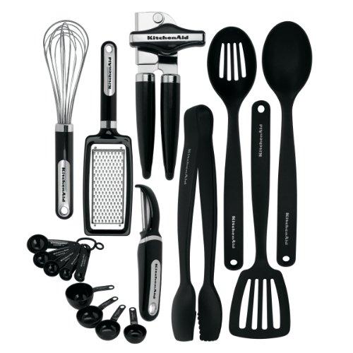 KitchenAid Classic 17-piece Tools and Gadget Set, Black
