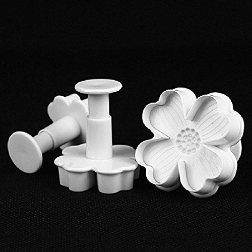 New 3pcsset Flower Shape Cake Sugarcraft Plunger Decoration Diy Tool Mold Kitchen Accessories