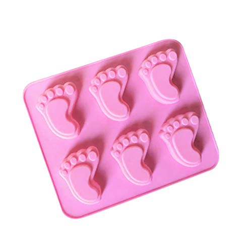 Samoii Baking Mold Silicone ReusableNon-Stick Footprint Design Cake Candy Chocolate Mold Cake Decorating DIY Mould