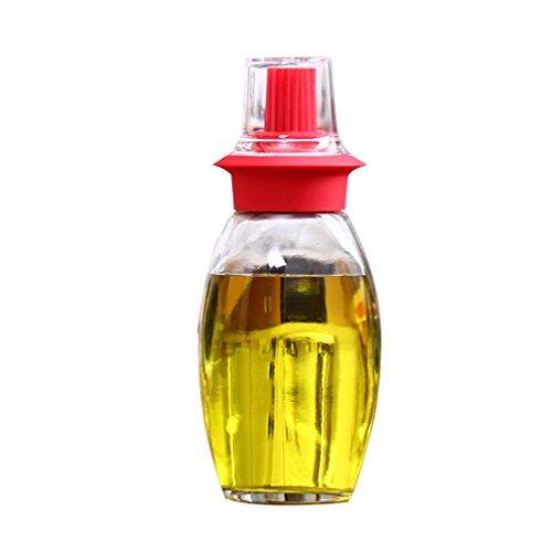 Verdental 75 OZ Heat Resistant Silicone Bristles BBQ Basting Brush Oil Dispenser Bottle
