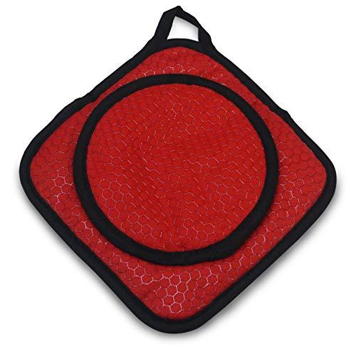 COOKDUO Grab Grip Pot HolderTrivet - Pot Holder Trivet RED