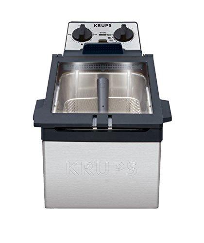 Krups Kj7000 Expert Stainless Steel Deep Fryer With Ventilation Technology, 4.5-liter, Silver