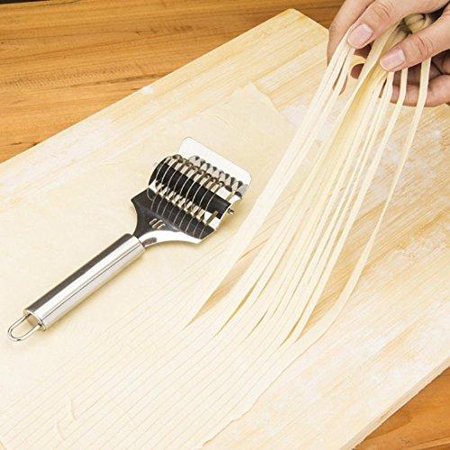 DZT1968 1pc Stainless Steel Spaghett Noodle parsley Maker Lattice Roller Docker Dough Cutter Tool Sliver