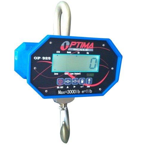 Optima Scales OP-925B-6000 Heavy-Duty Crane Scale - 6000 lbs x 2 lb LCD Display