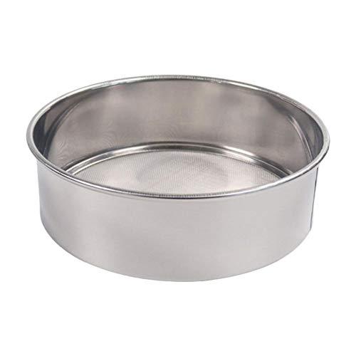 Flour Sieve For Baking Professional Round 188 Stainless Steel Flour Sieve With 6040 Mesh Flour Sugar Powder Sieve Baking Supplies