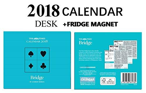 BRIDGE THE TIMES OFFICIAL BLOCK DESK CALENDAR 2018  CELEBRITY FRIDGE MAGNET
