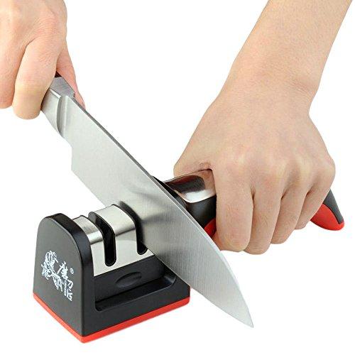 GaoCold Hard Carbide Ceramic Sharpening Stone 2 Stages Handle Household Knife Sharpener