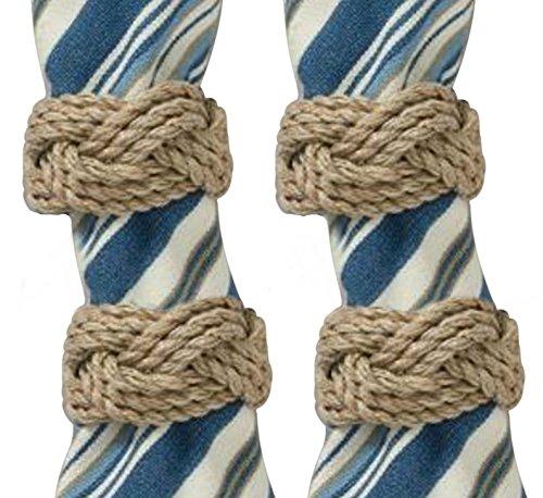 Jute Rope Napkin Ring Set of 4