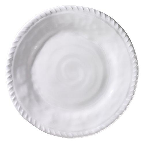 Merritt White Nautical Rope 9-inch Melamine Salad Plates Set of 6
