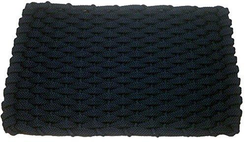 Rockport Rope Doormats 2038302 Indoor and Outdoor Doormats 20 by 38-Inch Navy Blue with Navy Blue Insert