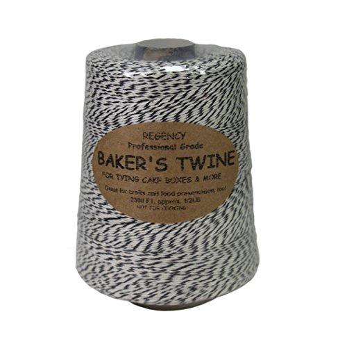 Regency Wraps Regency Bakers Twine 5 lb Cone BlackWhite