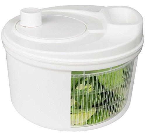 Greenco Easy Spin Manual Salad Spinner 32 quart White
