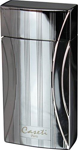 Visol Products Caseti Naxos Chrome Lines I Single Jet Flame Cigar Lighter